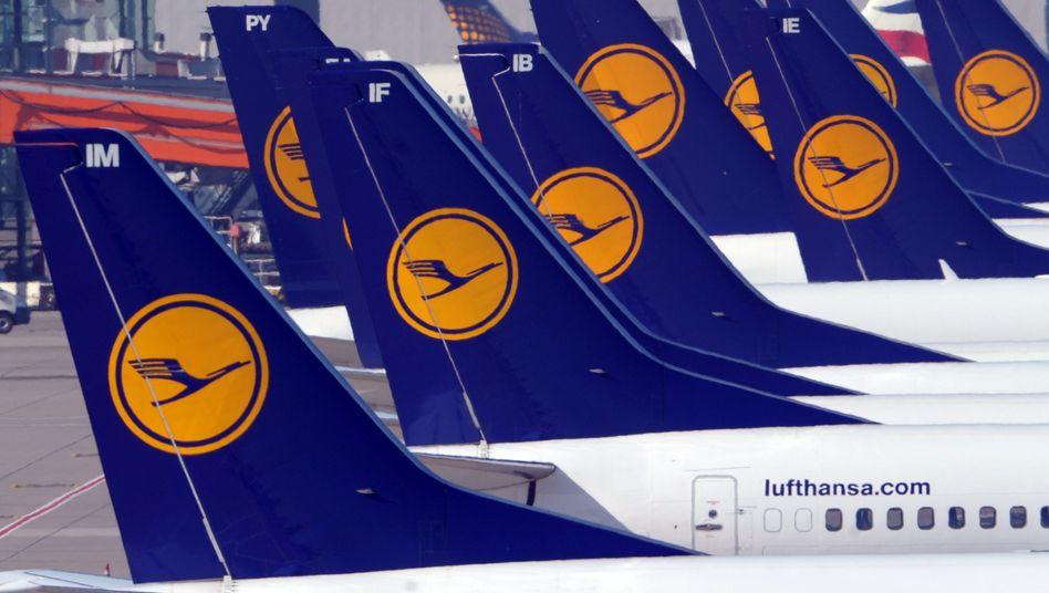 Lufthansa-Maschinen in Düsseldorf: Sorge vor dem Riesenstreik