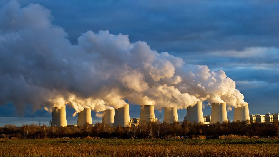 Braunkohlekraftwerk in Brandenburg