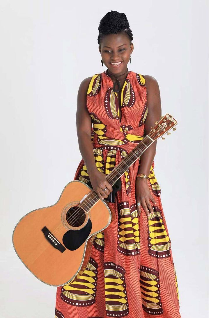 Tabou Diop also works in the export business but says her true passion is music.