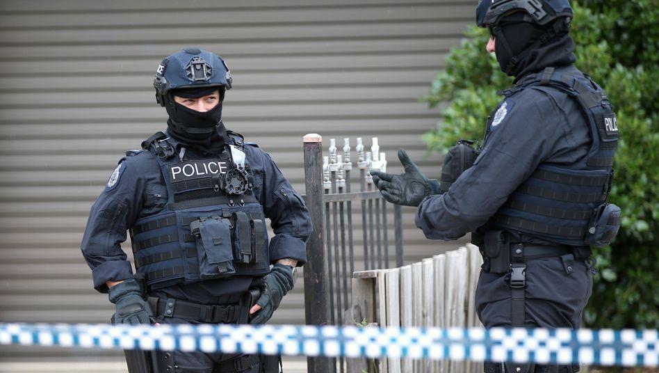 Polizisten beim Einsatz in Melbourne