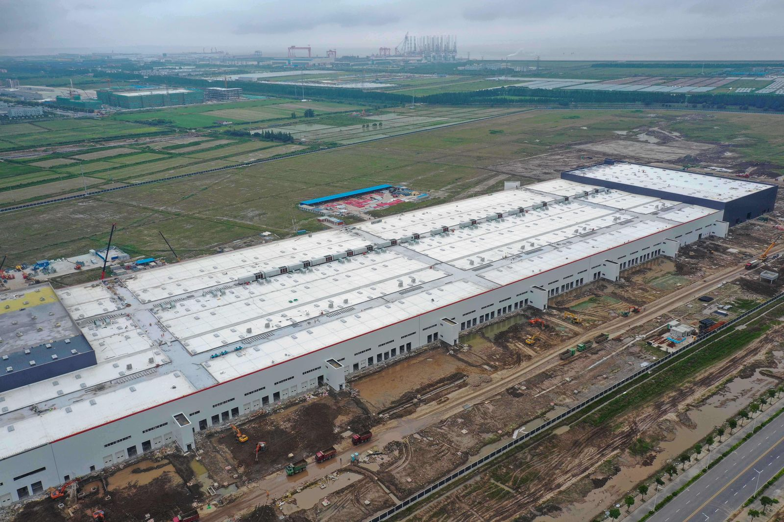 Tesla-Fabrik in Shanghai