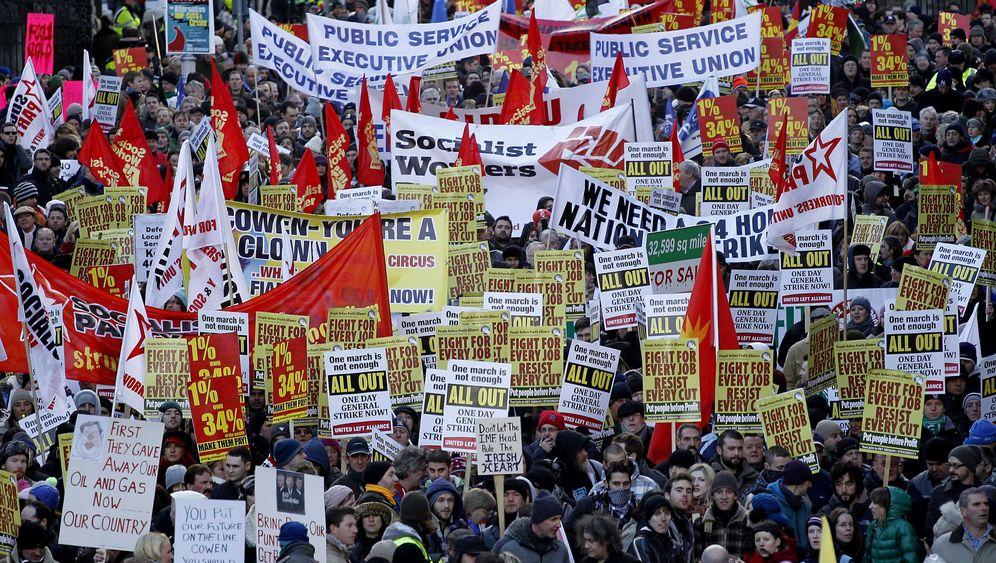 Irland: Großdemo gegen Sparpolitik