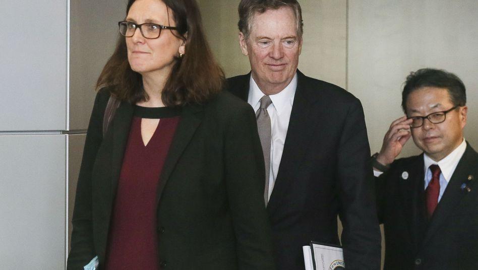 EU-Handelskommissarin Cecilia Malmström, US-Handelsbeauftragter Robert Lighthizer