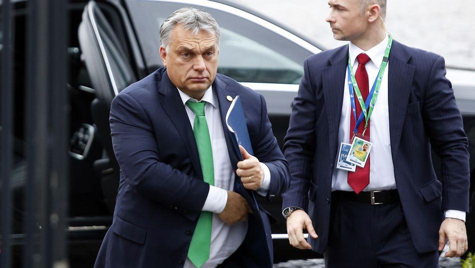 Viktor Orbán vor einem Treffen der EVP im Jahr 2017