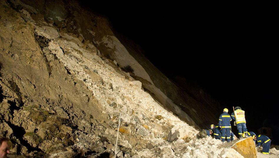 Rügen: Zehnjähriges Mädchen nach Felsabbruch vermisst
