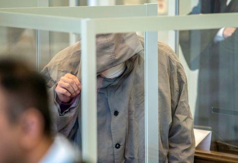 Mitangeklagter Alghareib (Bild vom ersten Prozesstag)