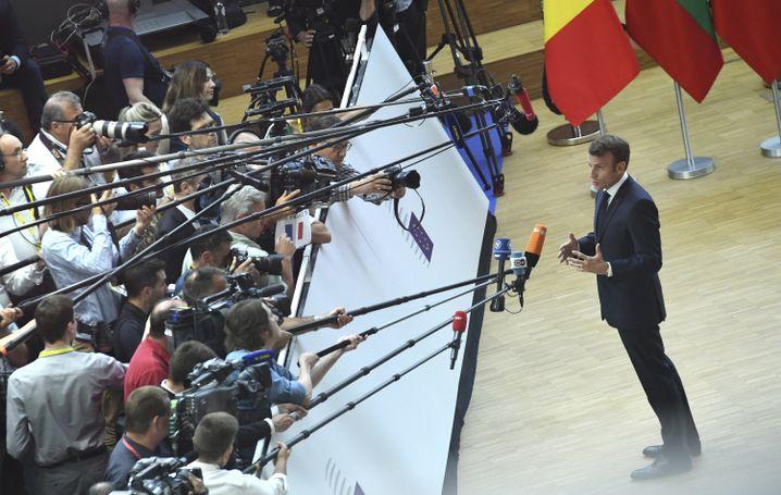 Emmanuel Macron beim EU-Sondergipfel