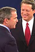 Die Duellanten Gore und Bush