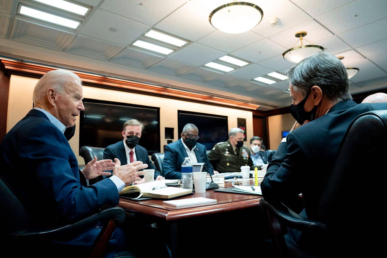 News Bilder des Tages USA, Joe Biden Pressestatement nach Treffen mit nationalem Sicherheitsrat zur Lage in Afghanistan