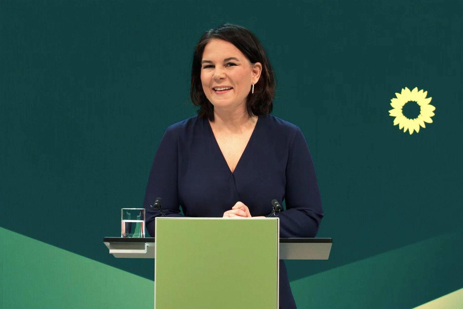 Deutschland, Berlin , 19.04.2021 Pressekonferenz von Buendnis 90/Die Gruenen Foto: Kanzlerkandidatin Annalena Baerbock