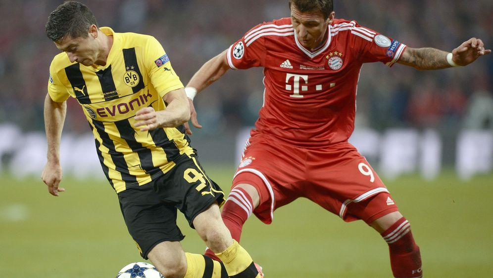 Top-Stürmer beim FC Bayern: Lewandowski und Mandzukic im Vergleich