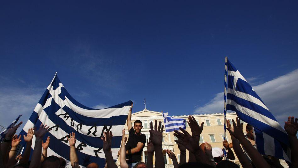 """Protest in Athen: """"Nicht schon wieder ein neues Programm"""""""