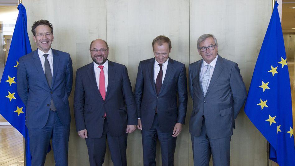 EU-Präsidenten Dijsselbloem, Schulz, Tusk, Juncker: Gemeinsames Papier zur Eurorettung