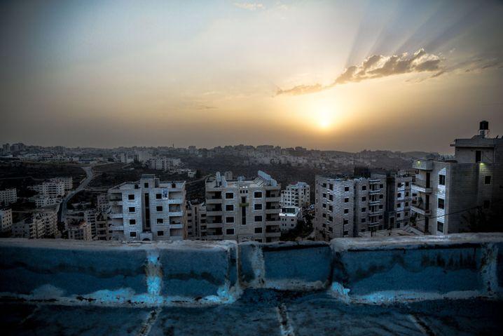 Sonnenaufgang über Ramallah