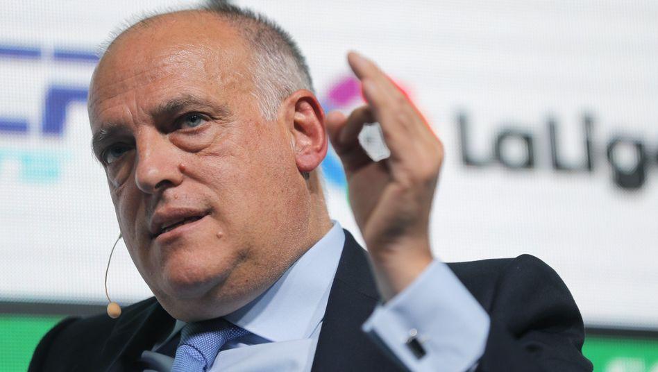 """Spaniens Liga-Präsident Javier Tebas: Er forderte in der Vergangenheit """"eine Art spanische Le Pen"""""""