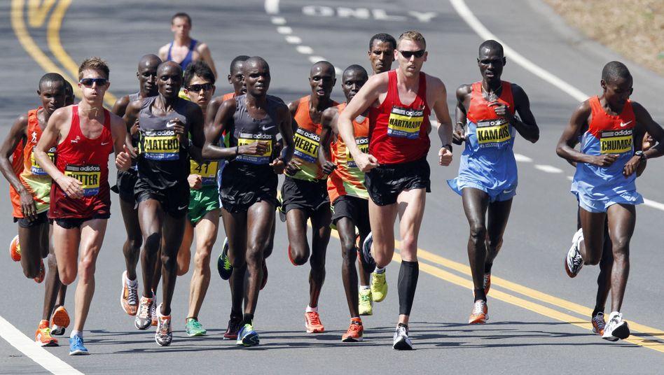 Spitzengruppe beim Boston-Marathon: Hasen machen das Tempo und steigen dann aus
