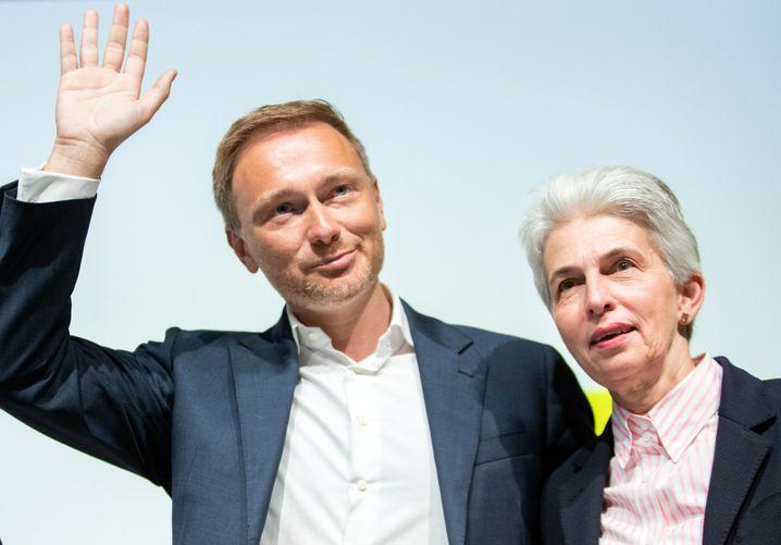 """FDP-Chef Lindner und Strack-Zimmermann (April 2019): """"Er hat unumwunden meine Unterstützung"""""""