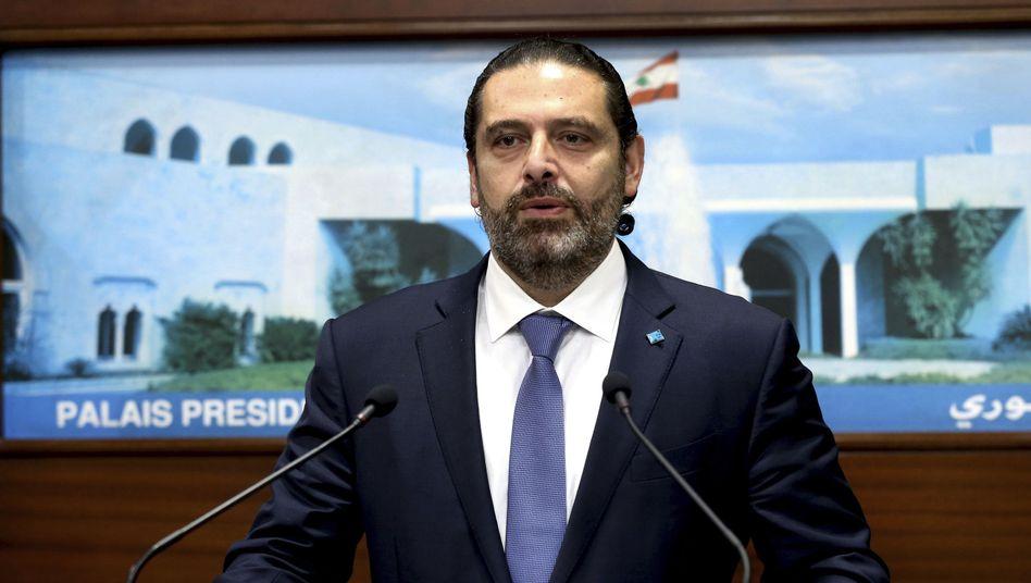 """Libanesischer Regierungschef Hariri: """"Wenn ihr vorgezogene Neuwahlen fordert, bin ich persönlich auf eurer Seite"""""""
