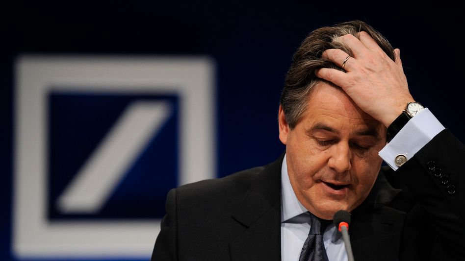 The last few weeks have been tough for outgoing Deutsche Bank CEO Josef Ackermann.