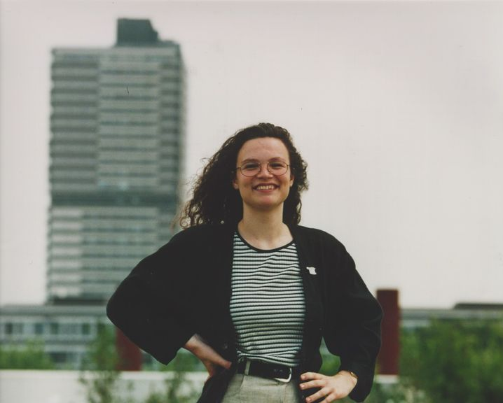 Andrea Nahles in 1995, the year she was chosen to lead the youth wing of the SPD.