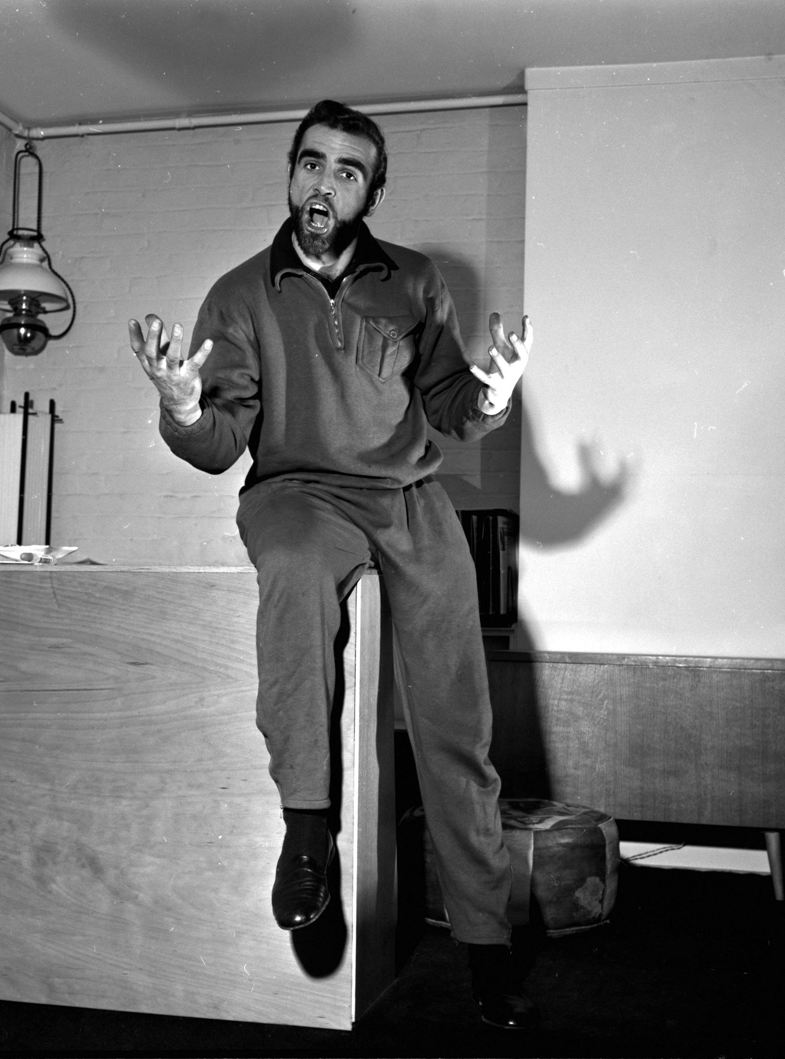 England. 1960. Actor Sean Connery is pictured at his home.