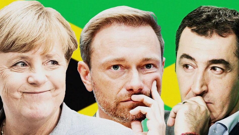 Merkel, Lindner, Özdemir, Seehofer