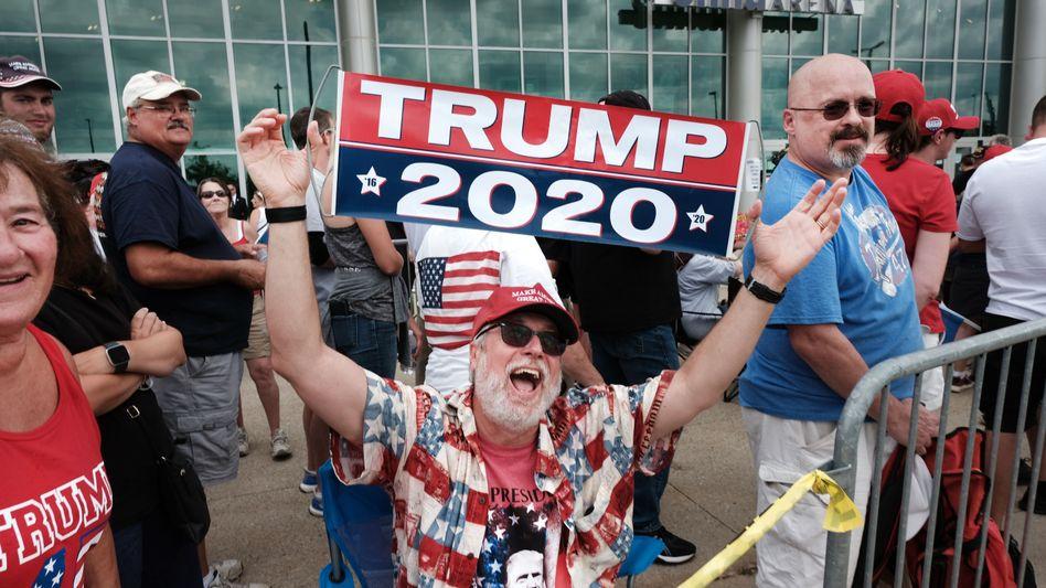 Trump-Unterstützer in Manchester, New Hampshire: Niemand kann sagen, er habe von nichts gewusst