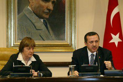 CDU-Chefin Merkel, türkischer Premier Erdogan: Auch Unions-Mitglieder für Türkei-Beitritt