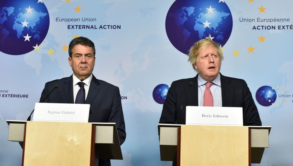 Außenminister Sigmar Gabriel und Boris Johnson