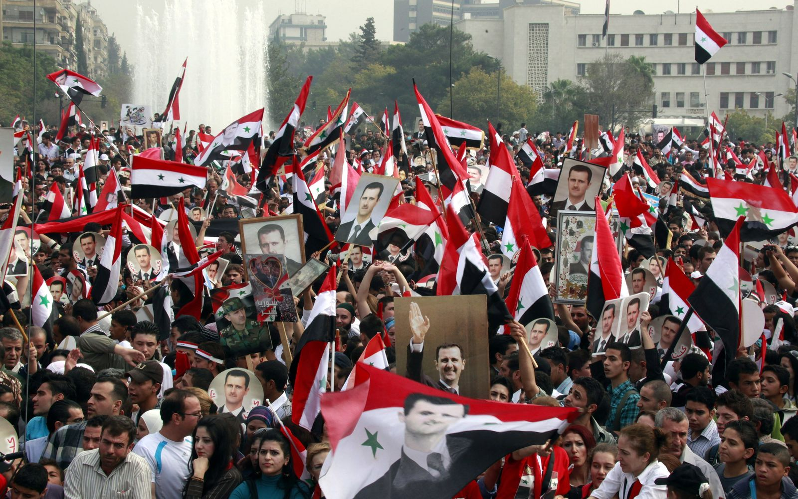 Pro-Assad-Demo in Damaskus