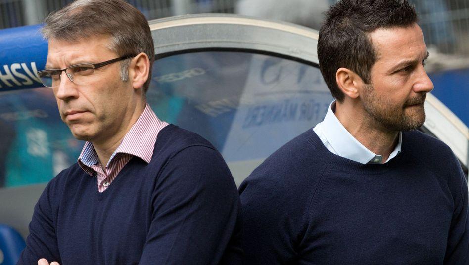 Sportchef Knäbel (l.): Der neue Coach beim HSV, Zinnbauer (r.) geht