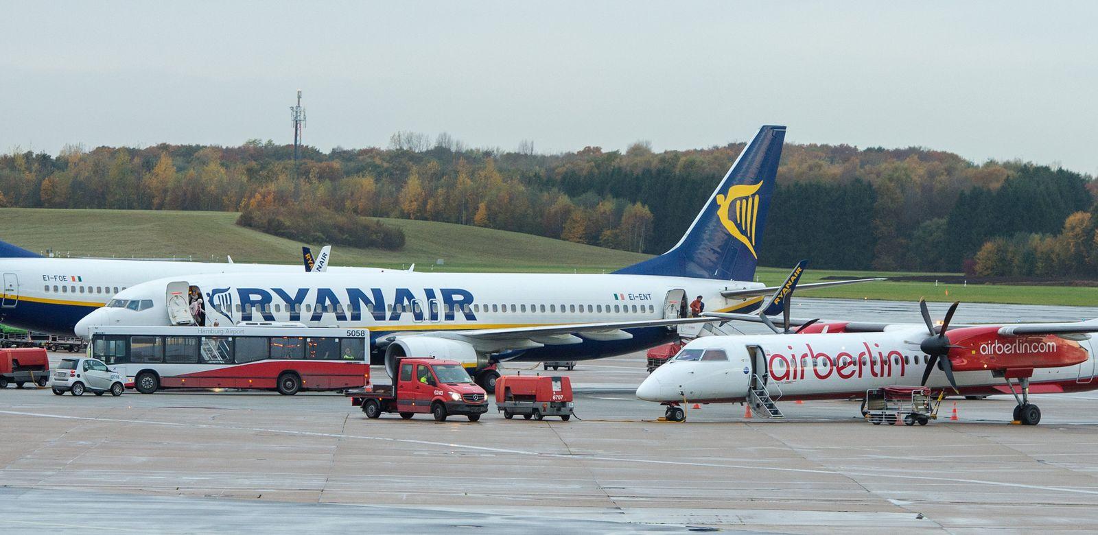 Ryanair und Air Berlin