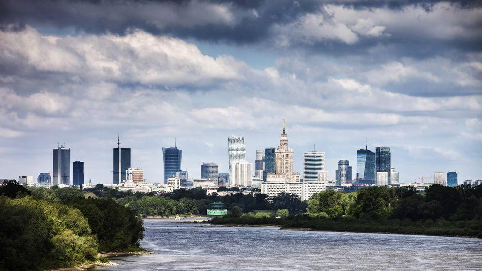 Skyline von Polens Hauptstadt Warschau
