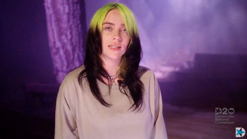 Billie Eilish während ihres Video-Auftritts