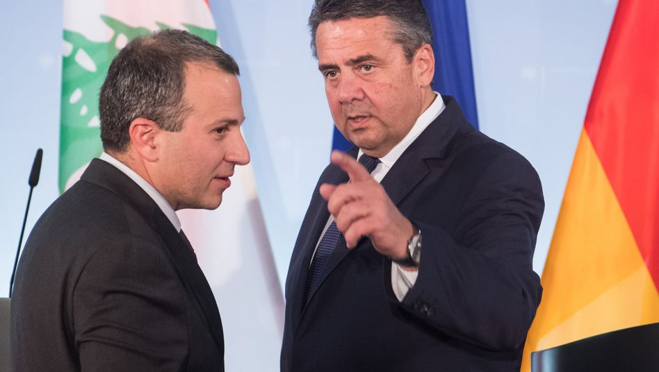 Außenminister Sigmar Gabriel mit seinem libanesischen Amtskollegen Gebran Bassil