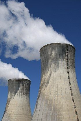 The Tricastin nuclear plant in southern France, where a liquid containing traces of unenriched uranium leaked Monday.