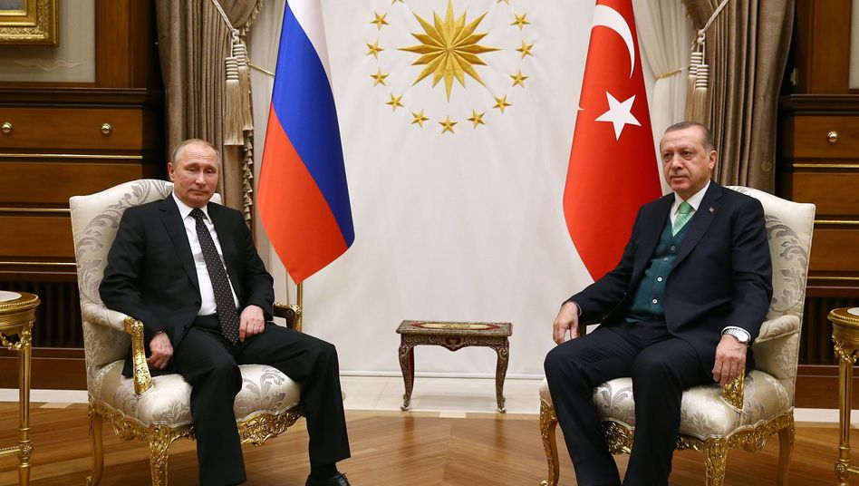 Putin und Erdogan bei ihrem Treffen in Ankara
