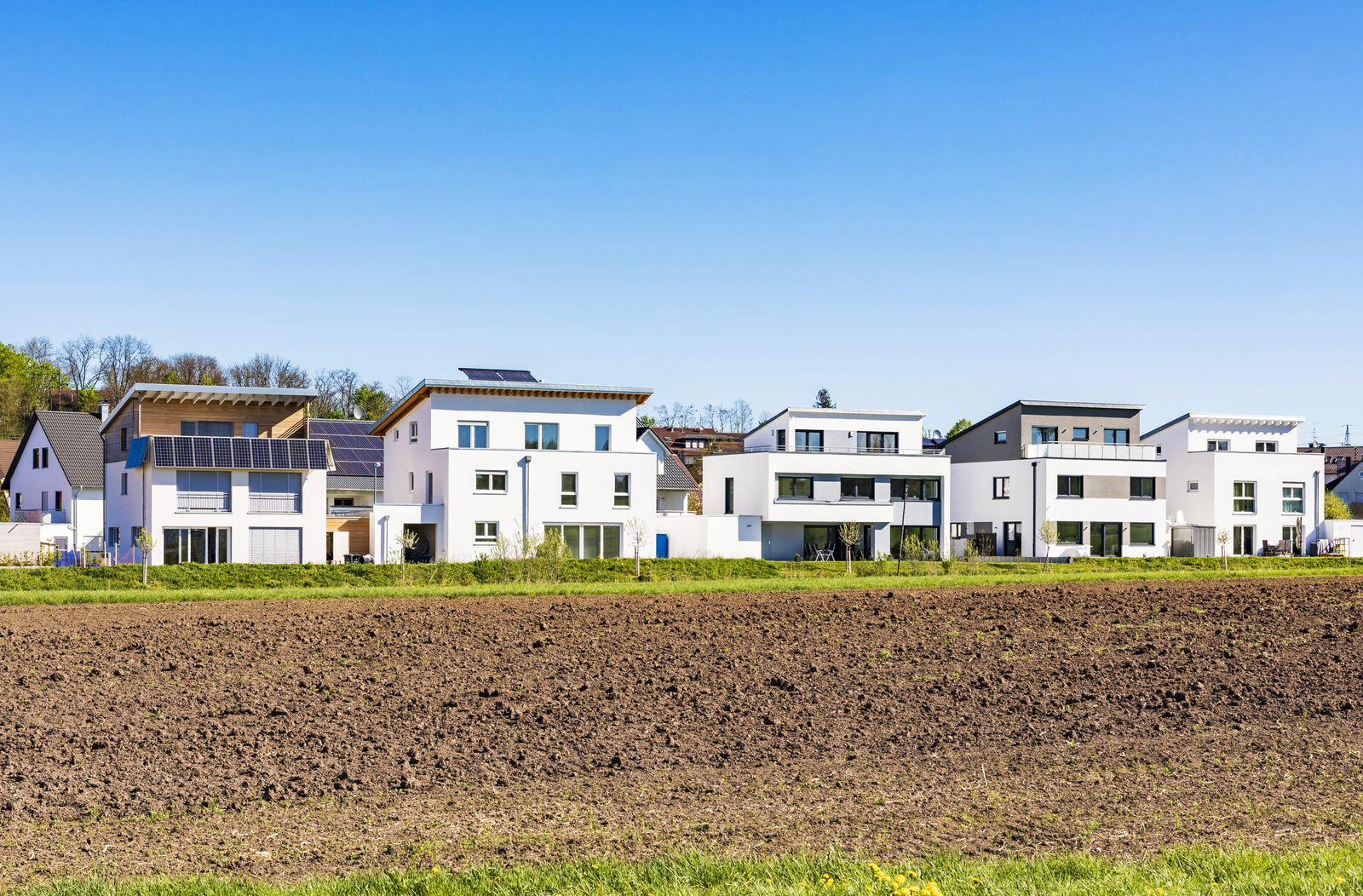 Germany Magstadt modern one family houses with solar thermal energy PUBLICATIONxINxGERxSUIxAUTxHUN