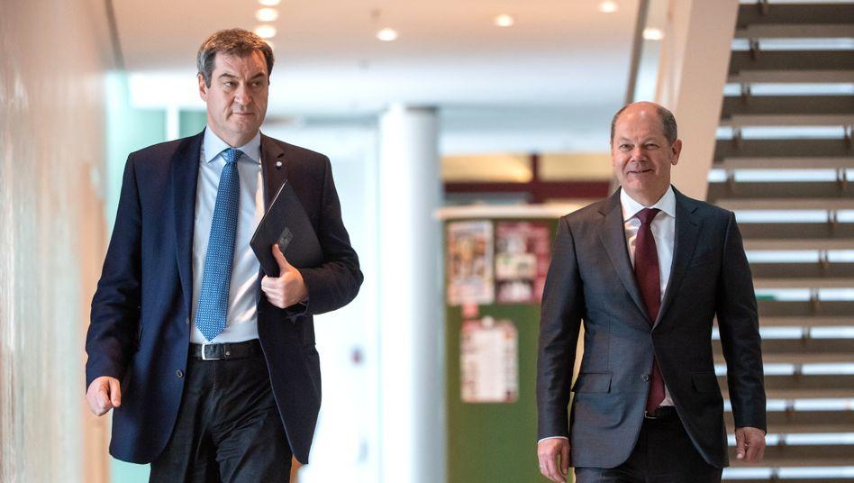 Krisenpolitiker Söder, Scholz