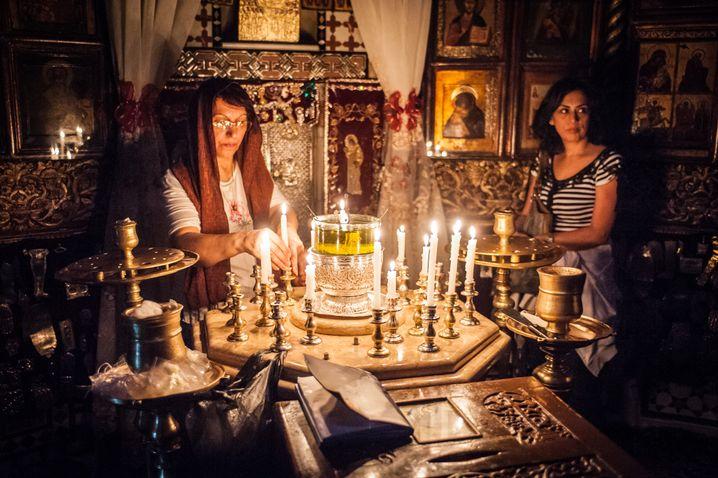 Der Pilgerort Saidnaya wurde von Christen und Muslimen besucht