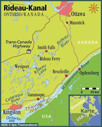 Von Ottawa in die Wildnis: Der Rideau-Kanal in Ontario verbindet zahllose Flüsse und Seen