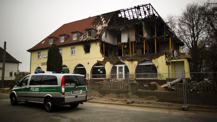 Zerstörtes Haus in der Frühlingsstraße in Zwickau (Archiv)
