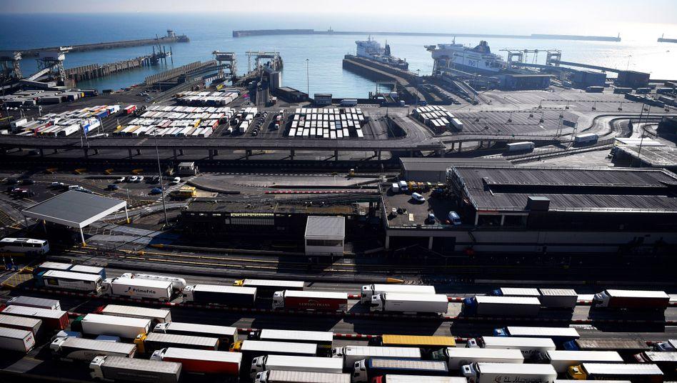 Blick auf den Hafen von Dover