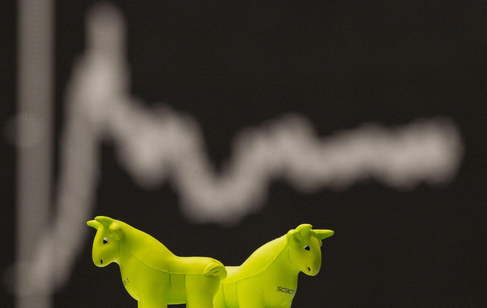 EINMALIGE VERWENDUNG Deutscher Aktienindex / Dax / Börse Frankfurt
