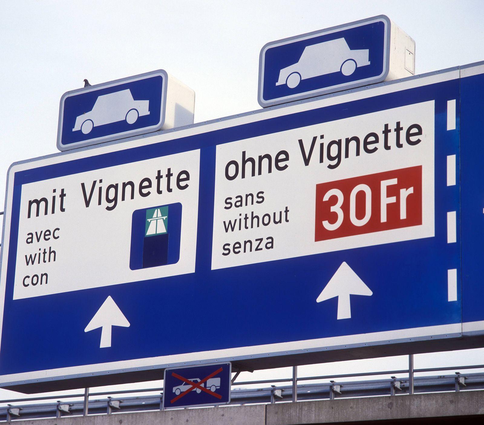 EINMALIGE VERWENDUNG Schweiz / Vignette