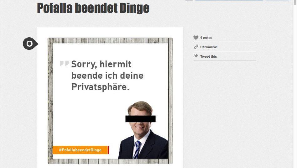 "Screenshot von ""Pofalla beendet Dinge"": Gnadenloses Internet"