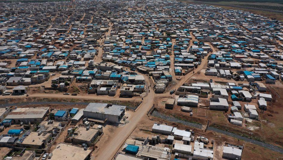 Flüchtlingslager auf der syrischen Seite der Grenze zur Türkei
