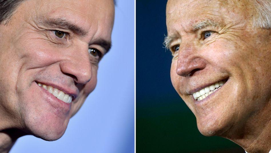 Eine gewisse Ähnlichkeit ist vorhanden: Jim Carrey wird nun Joe Biden darstellen