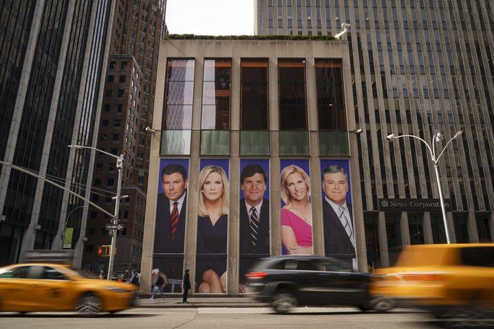 Wenn ein Sender zur Gesundheitsgefahr wird: Fox-News-Zentrale in Manhattan