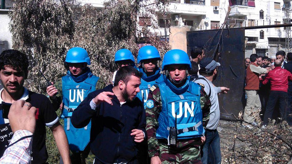 """Uno-Beobachter in Homs: """"Sie haben den Tod mit sich gebracht."""""""